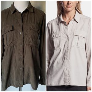James Perse Corduroy Military Shirt
